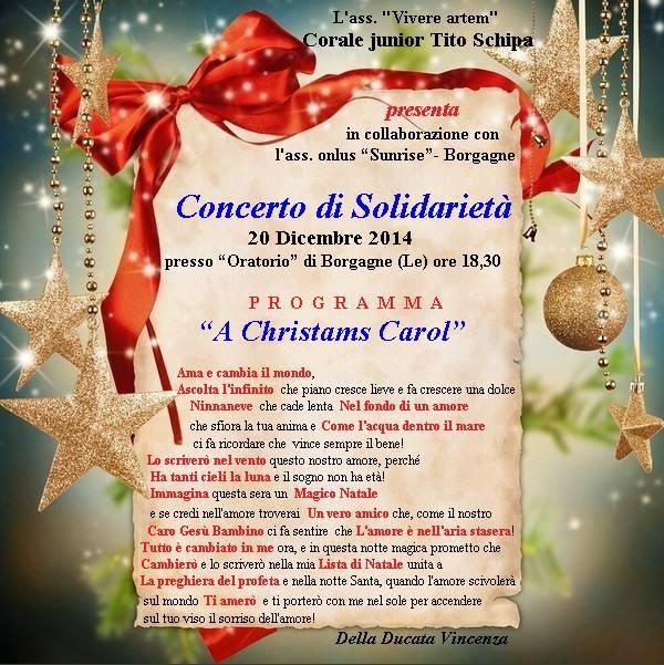 Concerto di solidarietà,quando la tradizione natalizia abbraccia la cultura della comunità