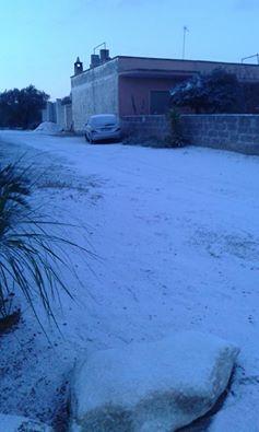 Il Salento si tinge di bianco,un panorama mozzafiato,le previsioni meteo promettono freddo e gelo