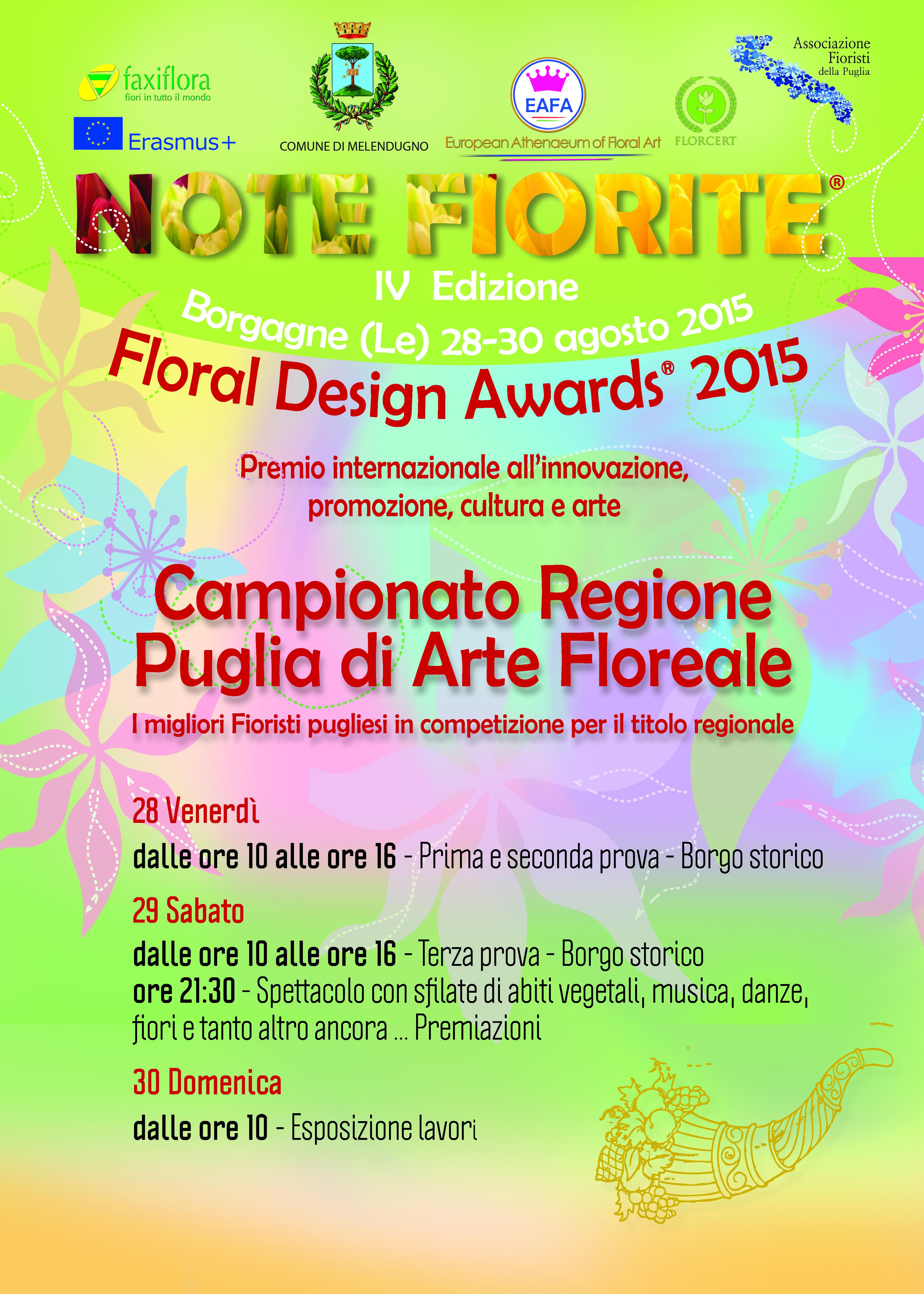 Mini corso dedicato all'arte floreale a Cavallino promosso LEVERANO FIORI in collaborazione con EUROPEAN ATHENAEUM OF FLORAL ART (EAFA) e con l'ASSOCIAZIONE FIORISTI DELLA PUGLIA