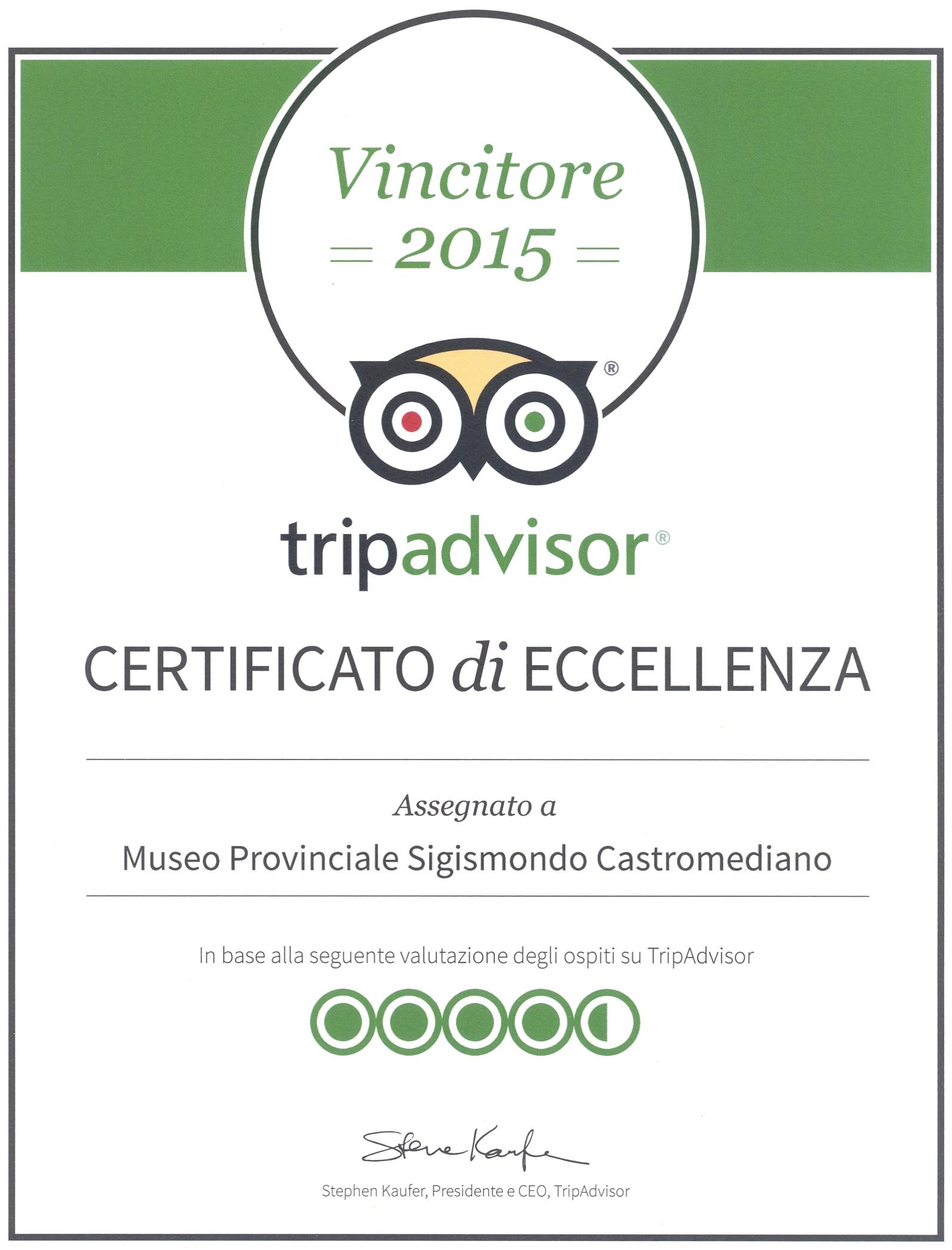 """Premiato Museo Provinciale """"Sigismondo Castromediano""""."""