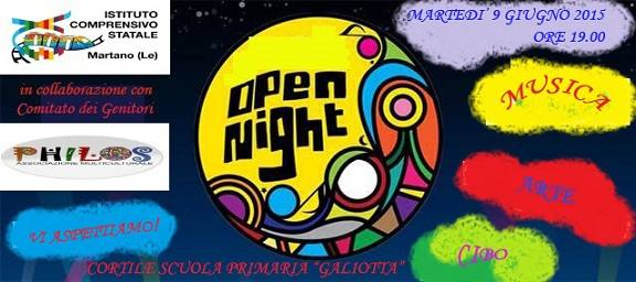 Martano,notte magica a scuola