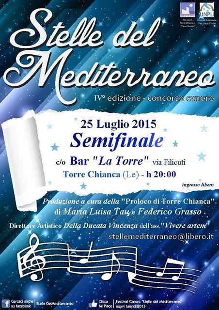 Stelle del Mediterraneo,concorso canoro , a Torre Chianca