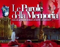 Raffaele Protopapa e Le parole della memoria, rassegna teatrale