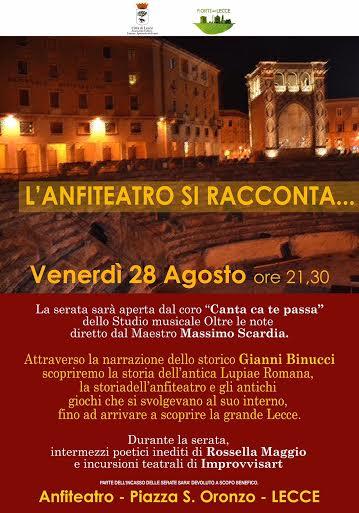 L'anfiteatro si racconta, a Lecce un viaggio nella storia