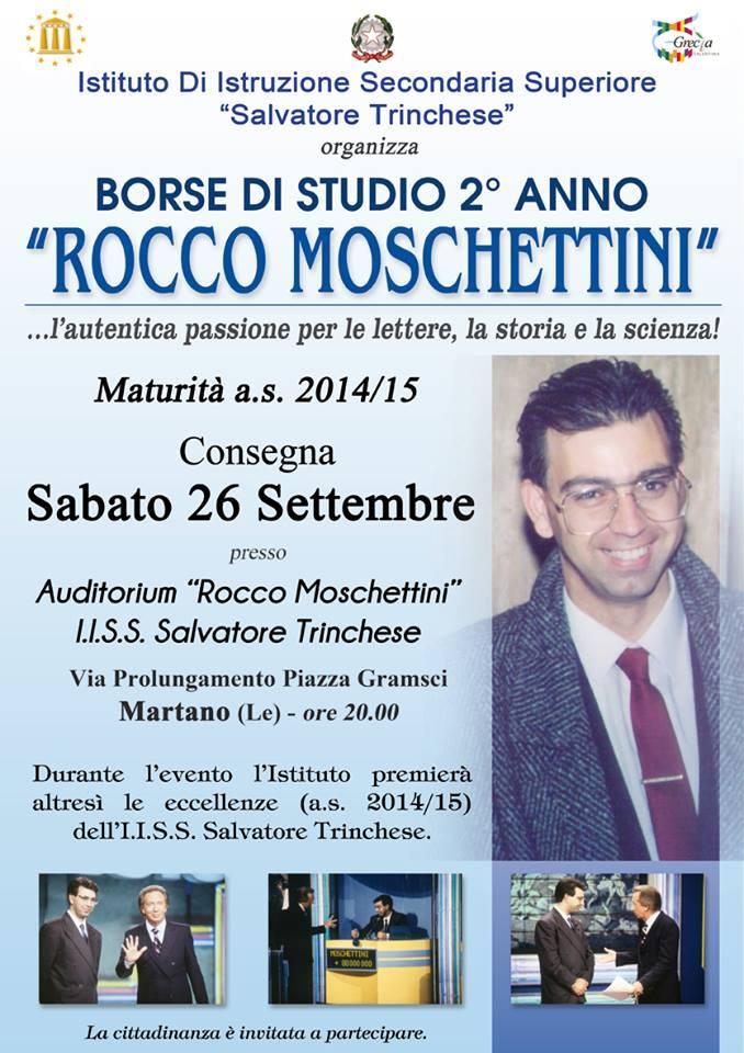 Stasera all'Istituto Trinchese di Martano per ricordare il dott.Rocco Moschettini