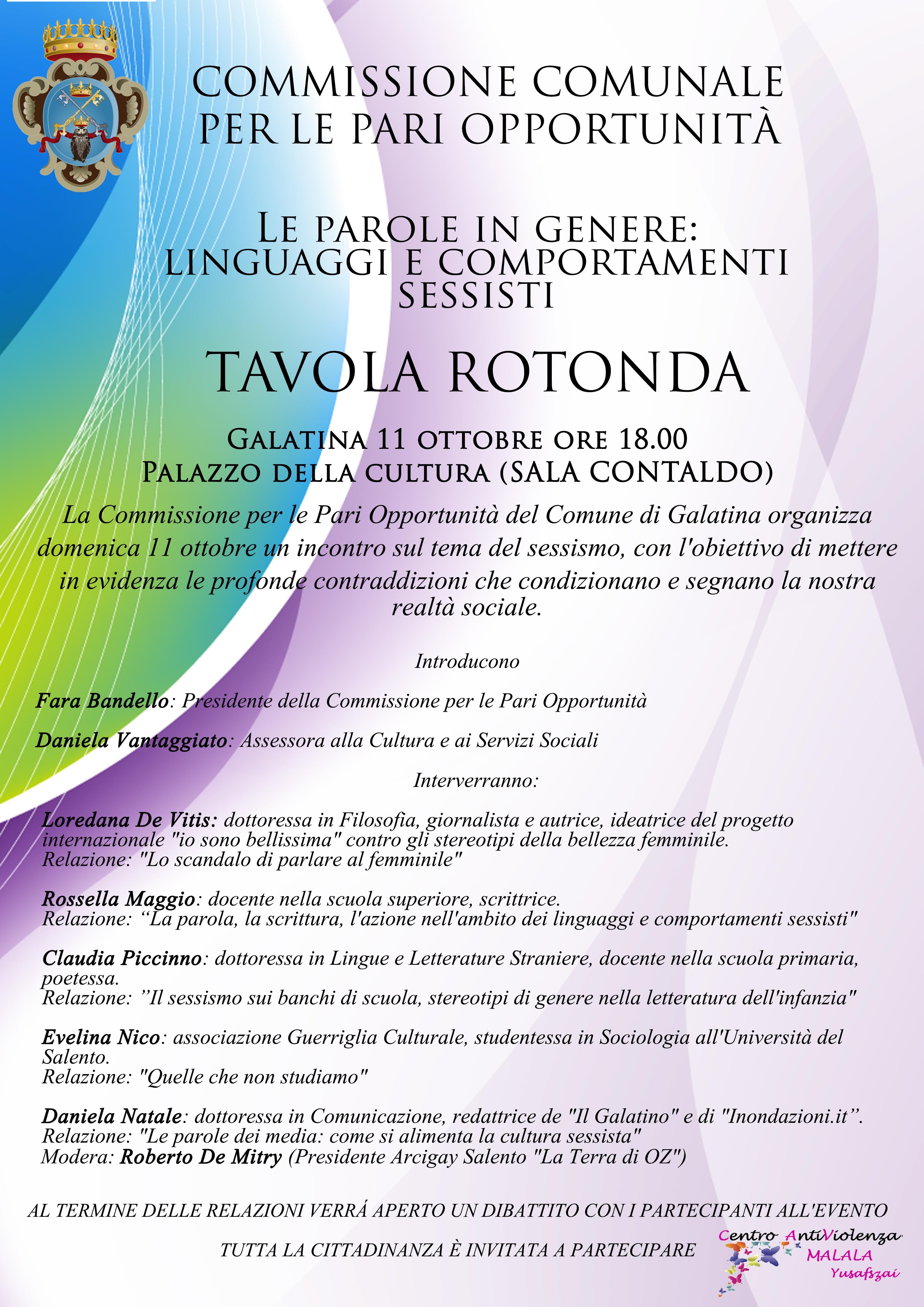Domenica a Galatina per parlare di sessismo e parità di genere