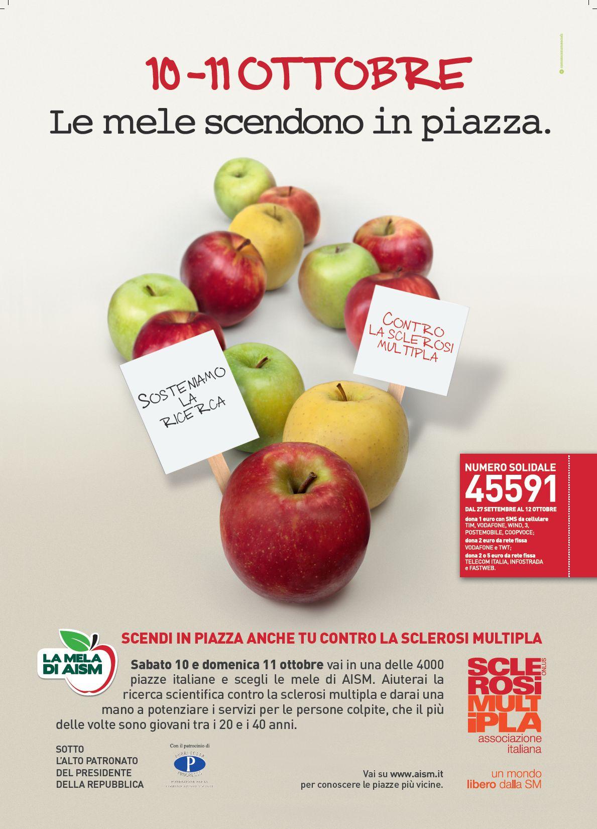 Le piazze del Salento dove acquistare le mele di AISM