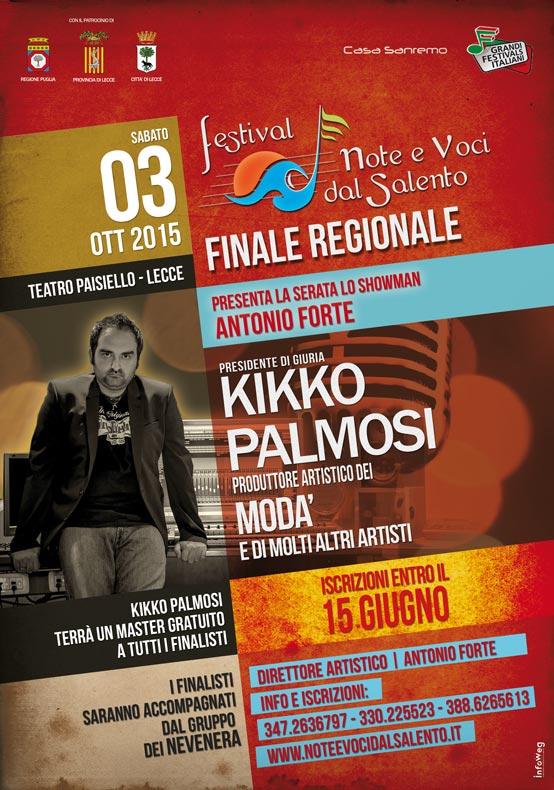 Finali Regionali – Note e Voci dal Salento 2015 finalissima al teatro Paisiello di Lecce