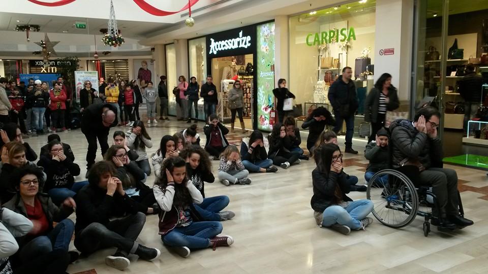 Flashmob contro le discriminazioni sulla disabilità