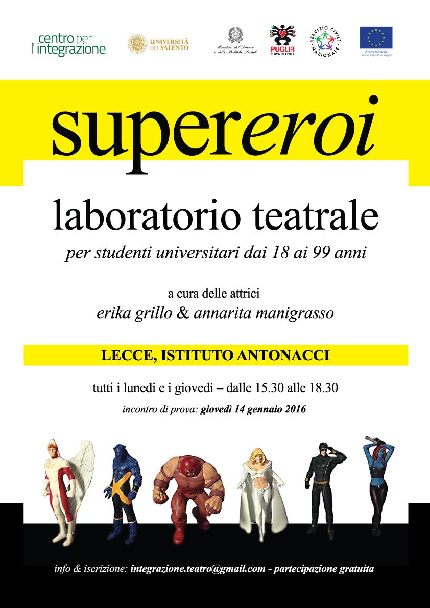 """""""SUPEREROI"""": un laboratorio teatrale per l'integrazione  dedicato agli studenti dell'università del Salento"""