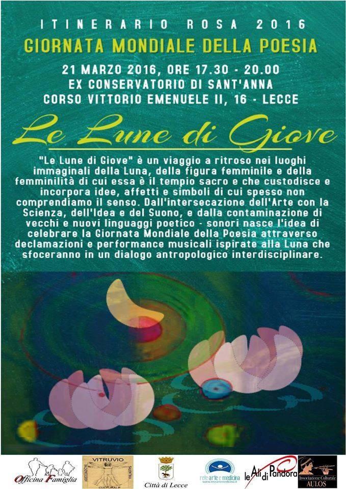 Le 16 Lune progetto dell'associazione Vitruvio per valorizzare la Poesia oggi a Lecce – Ex conservatorio Sant'Anna-