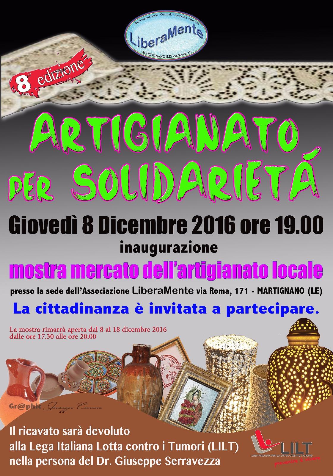 A Martignano mostra artigianato per sostenere LILT
