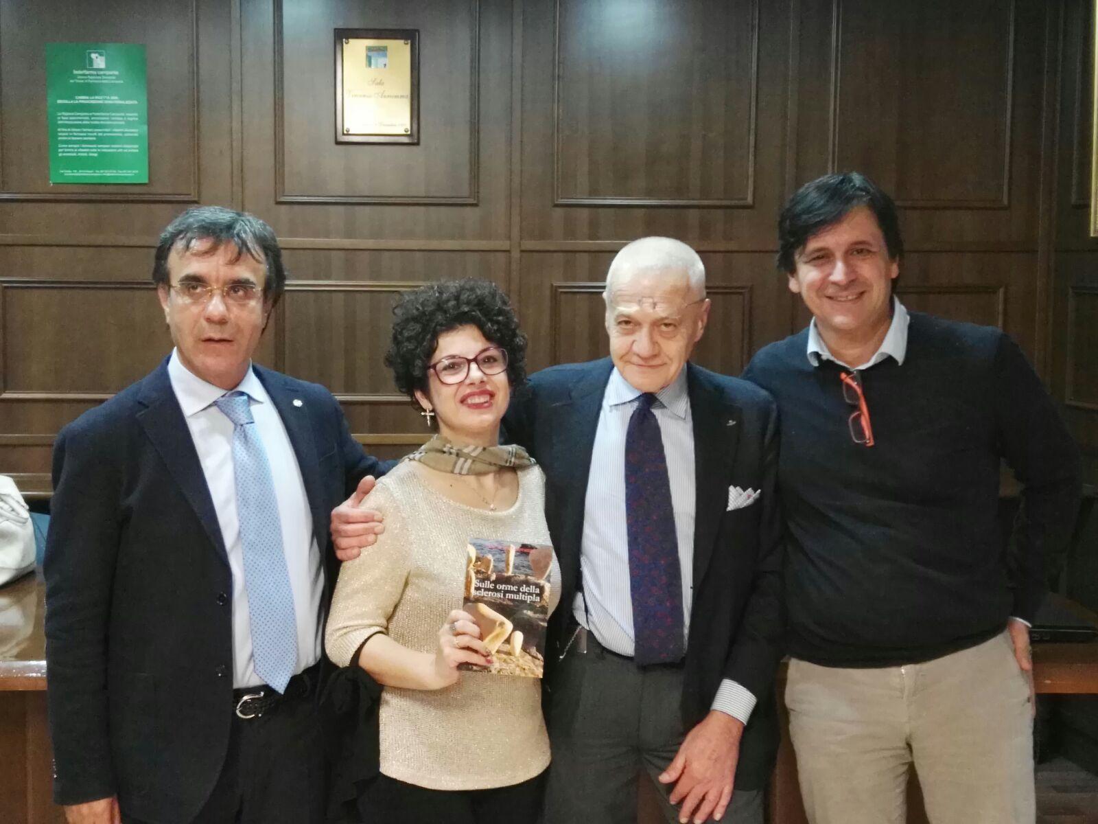 """Sclerosi multipla e sensibilizzazione, premio """"Ad Maiora"""" a De Giovanni"""