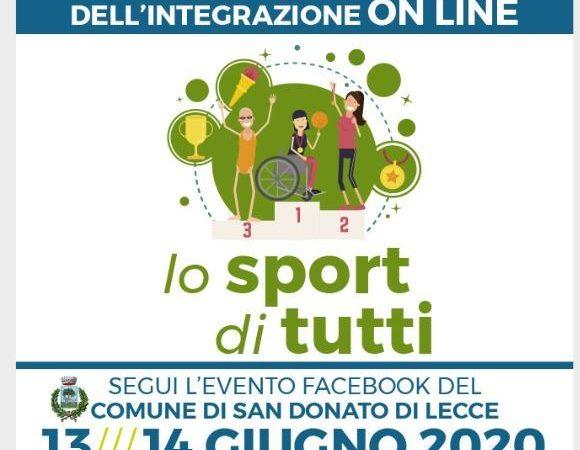 Lo sport di tutti a San Donato di Lecce, sul web la manifestazione oggi e domani