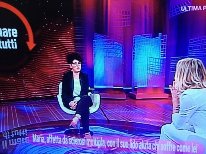 Maria De Giovanni protagonista alla Rai nel programma Da noi a ruota libera