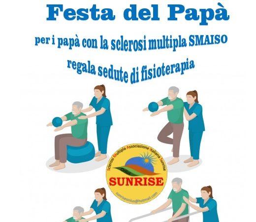 Sunrise Onlus regala la fisioterapia ai papà con la sclerosi multipla , per tutto il mese di marzo